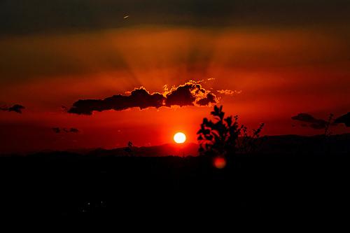夢占い 夕日